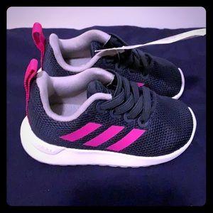 Infants Sz 4K Trace Blue Shock Pink Adidas Shoes